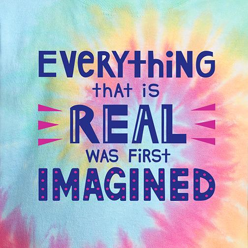 Everything that is Real was First Imagined - Pastel Tie Dye T-Shirt Youth - Bixbee