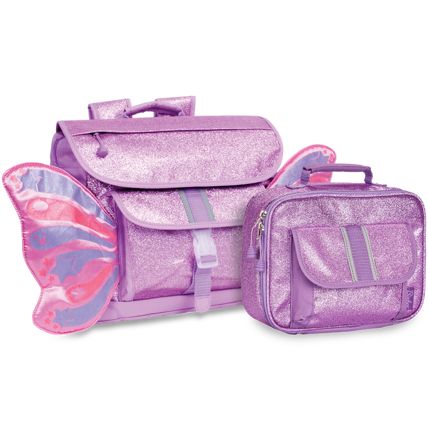 """Sparkalicious Purple"" Butterflyer Backpack & Lunchbox Bundle - Medium - Bixbee"
