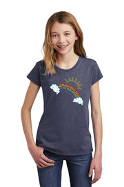 Imagination is the Rainbow of the Brain - Gray Heather T-Shirt Girls - Bixbee