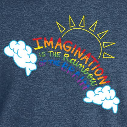 Imagination is the Rainbow of the Brain - Gray Heather T-Shirt Youth - Bixbee