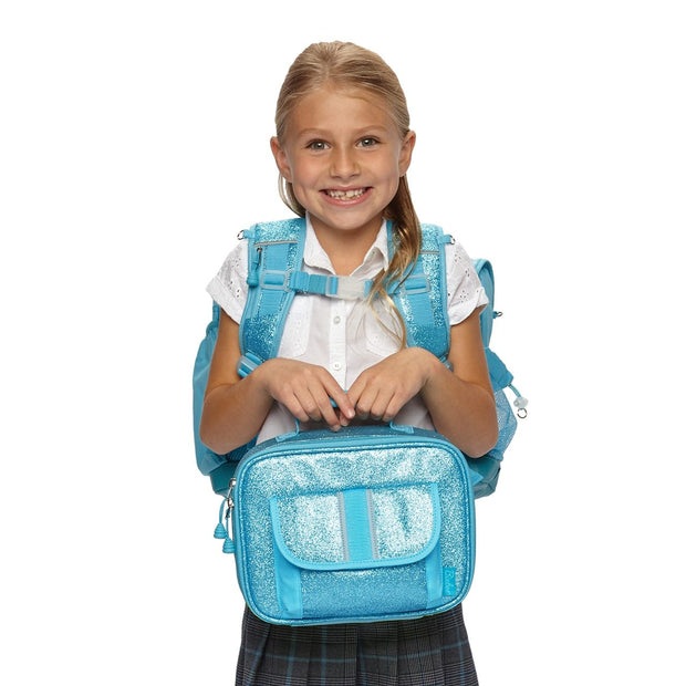 """Sparkalicious Turquoise"" Backpack & Lunchbox Bundle - Large - Bixbee"