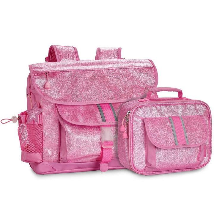 Large Sparkalicious Pink Backpack & Lunchbox Bundle - Bixbee