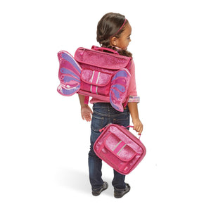 Small Sparkalicious Pink Butterflyer Backpack & Lunchbox Bundle