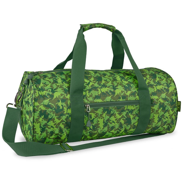 Dino Dinosaur Camo Pattern Duffle Bag for Kids - Bixbee