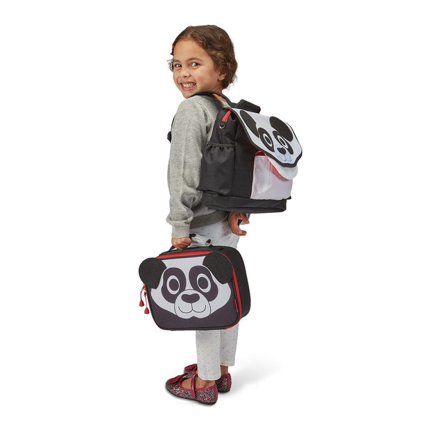 """Panda"" Backpack & Lunchbox Bundle - Bixbee"