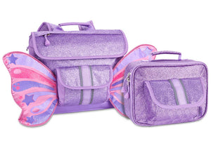 Small Sparkalicious Purple Butterflyer Backpack & Lunchbox Bundle - Bixbee