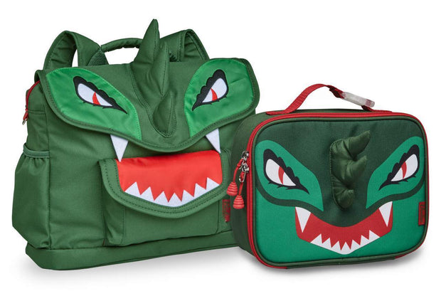 """Dino"" Dinosaur Backpack & Lunchbox Bundle - Bixbee"