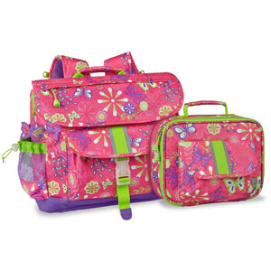 Large Butterfly Garden Backpack & Lunchbox Bundle