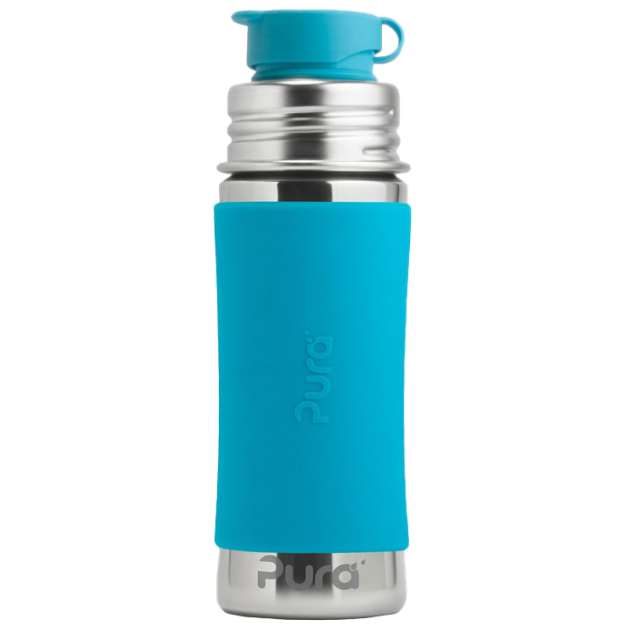 Pura 11oz Sport Mini™ Bottle w/ Sleeve - Aqua - Bixbee