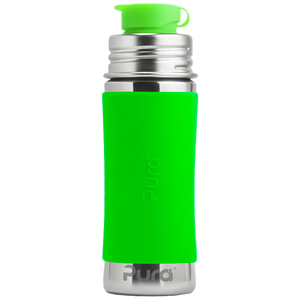 Pura 11oz Sport Mini™ Bottle w/ Sleeve - Green - Bixbee