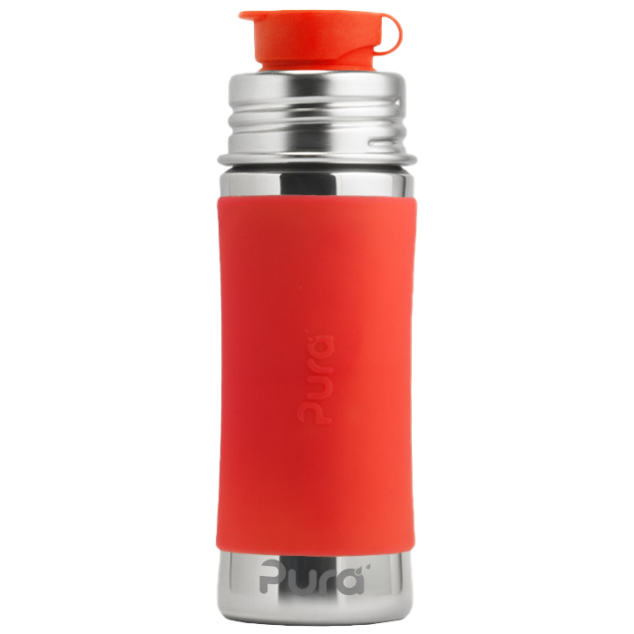 Pura 11oz Sport Mini™ Bottle w/ Sleeve - Orange - Bixbee