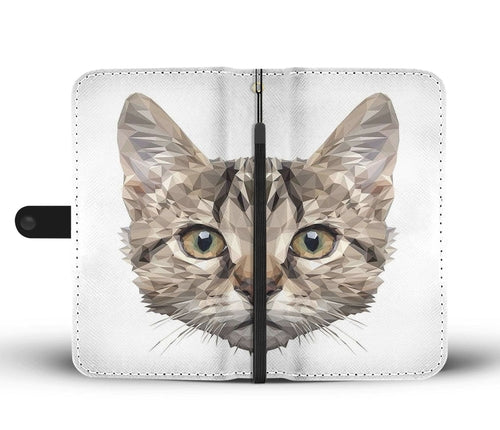Geo Cat Wallet Phone Case w/ RFID Blocker