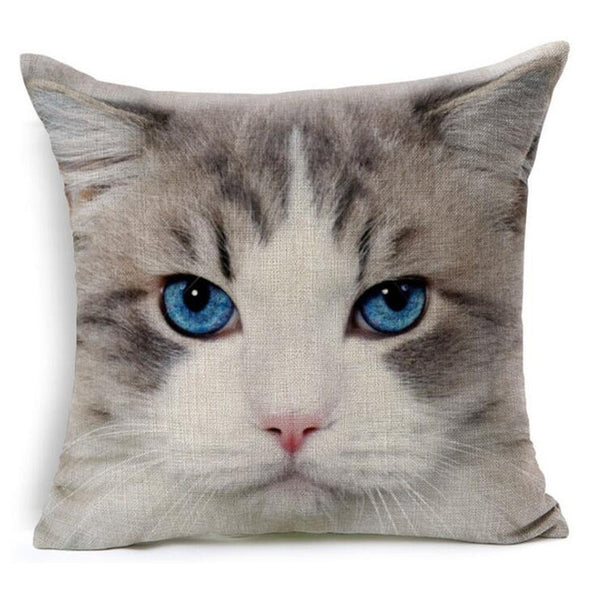 Purrfect Cat Printed Pillowcase