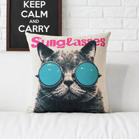 Retro Decorative Cat Pillow