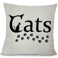 Black Cat Throw Pillow Cover