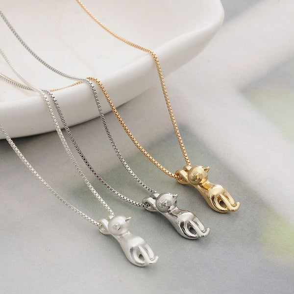 Dangling Cat Necklace
