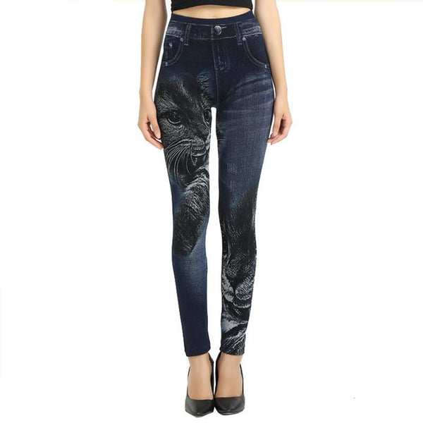 Black Cat Slim Jeggings