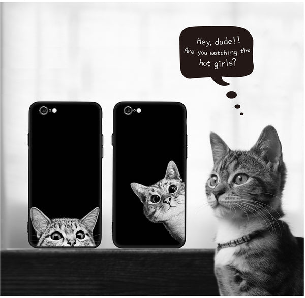 Dark Space Cat iPhone Case