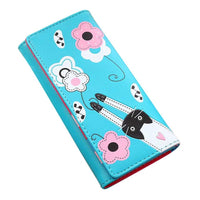 Cody Cat Flowers Pattern Wallet