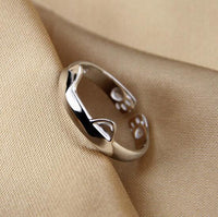 Cora Cat Paw & Ears Ring