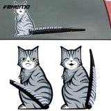 Cat Moving Tail Car Sticker