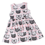 Sleeping Kitten Baby Dress