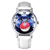 Pops Cat Leather Watch