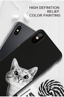 Space Moon Cat Cover iPhone X