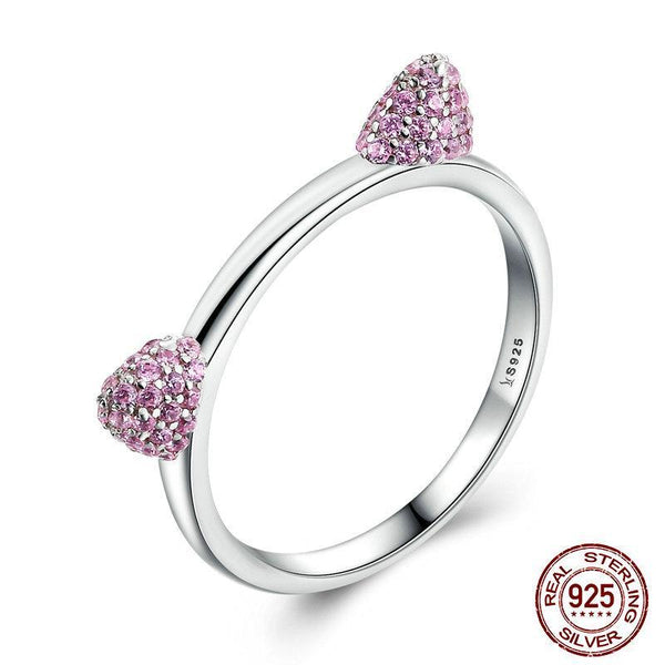 Pink Cat Ears Ring