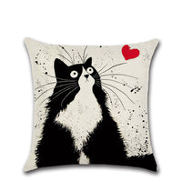 Shocked Cat Pillow Cover