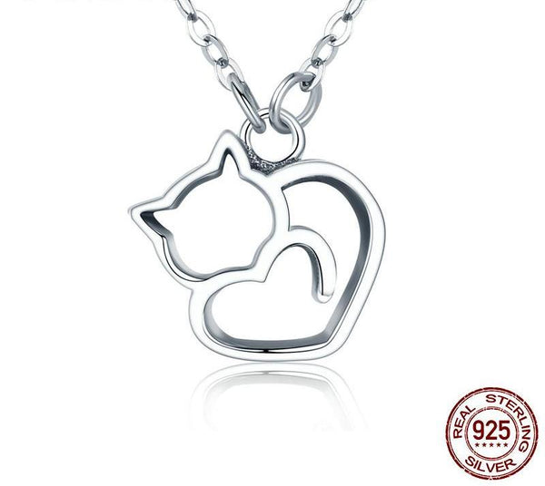 Little Heart Cat Necklace