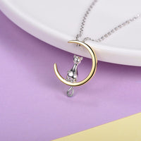 Chilling On Moon Necklace