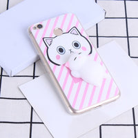 3D Cuddly Cat Case Xiaomi Redmi 4