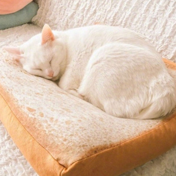 Toast Bread Cat Bed