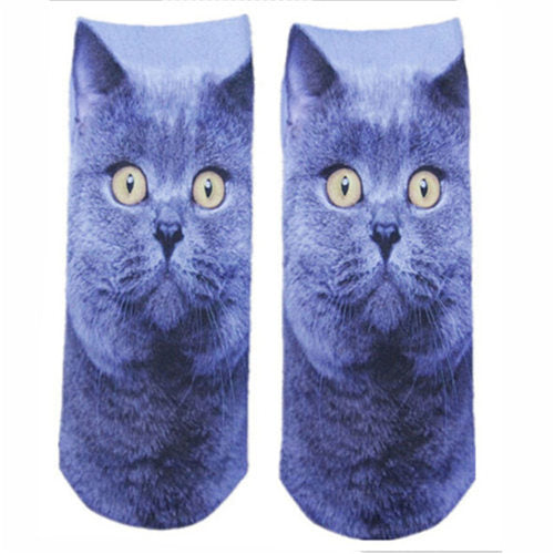 Cat Pattern Low Ankle Socks