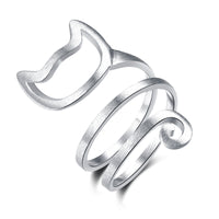 Helical Twirl Cat Ring