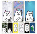 Middle Finger Cat Huawei Case