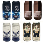 Kitty Cat 3D Anklet Socks