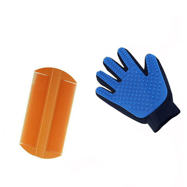 Grooming Glove with Flea comb