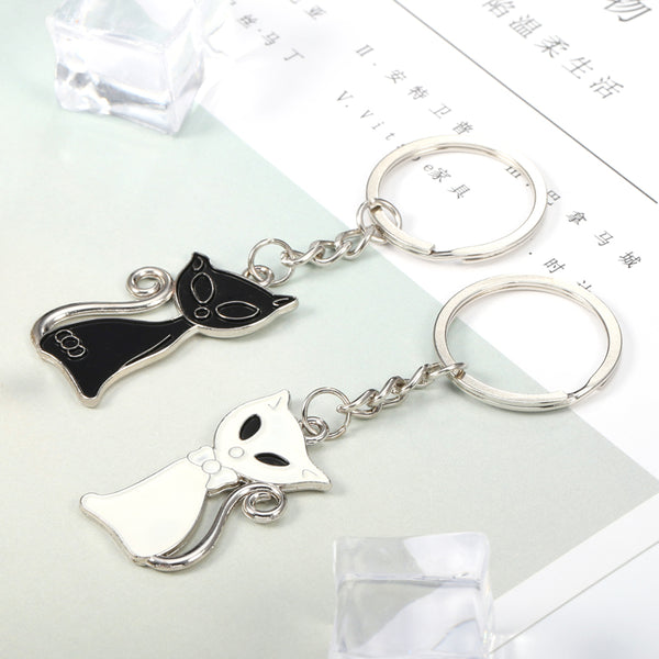 Cat Couple Keychain