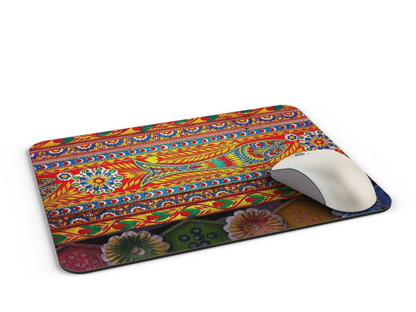 Truck art floral fish art pattern Mousepad
