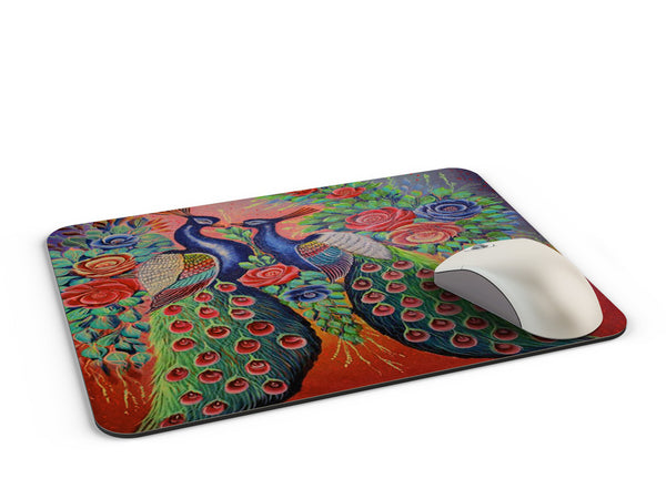 Truck art peacock love Mousepad