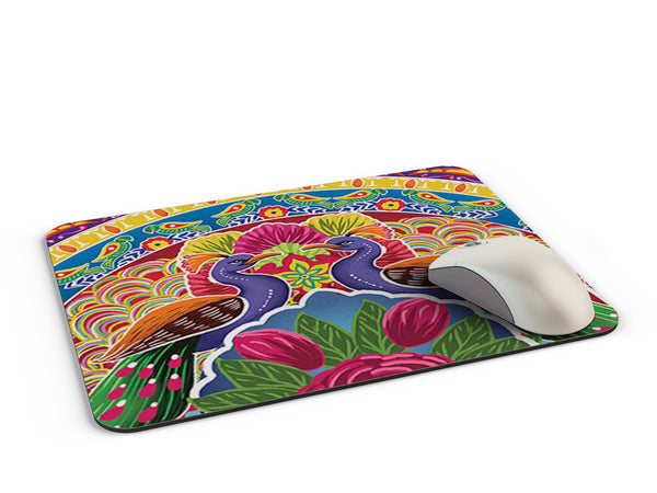 Truck art peacock pattern Mousepad