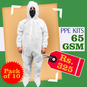 Heavy PPE Kit for Corona Virus 65GSM (Set of 10)