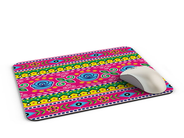 Truck art flower art pattern Mousepad