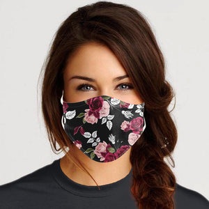 Flower Black Mask