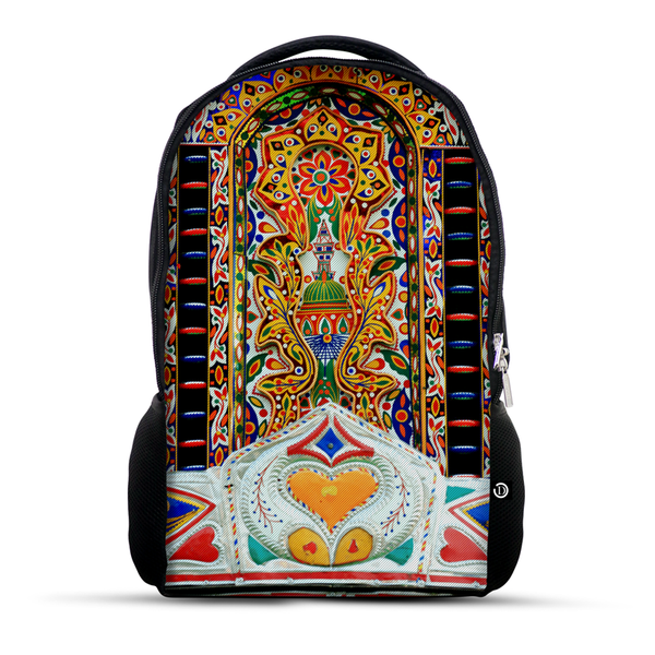 Truck Art pattern backpack