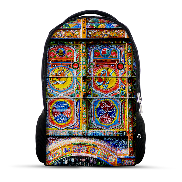 Truck Art folk pattern backpack