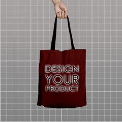 Custom Tote Bag - Burgandy - zakeke-design