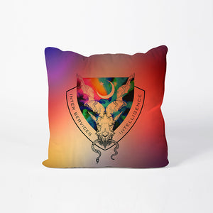 Markhor Logo on Colored Cushion